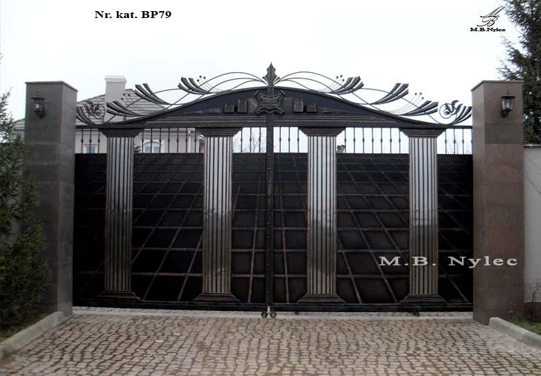 Brama nowoczesna w stylu greckim bp79